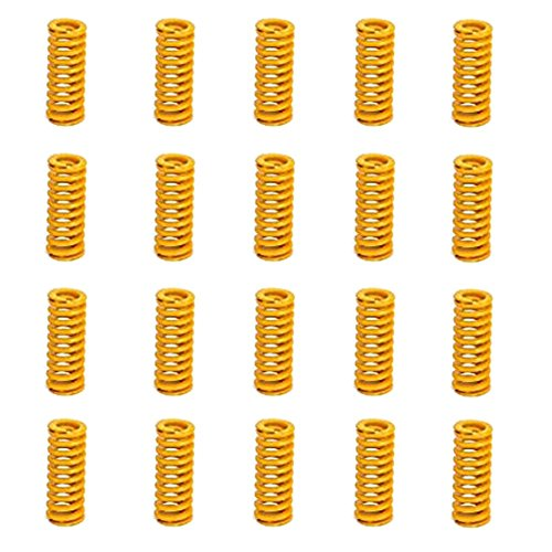 8mm OD 20mm Long Light Load Compression Mould Die Spring Yellow Compression Mould Die Spring for The Ender 3s Bed 20pcs