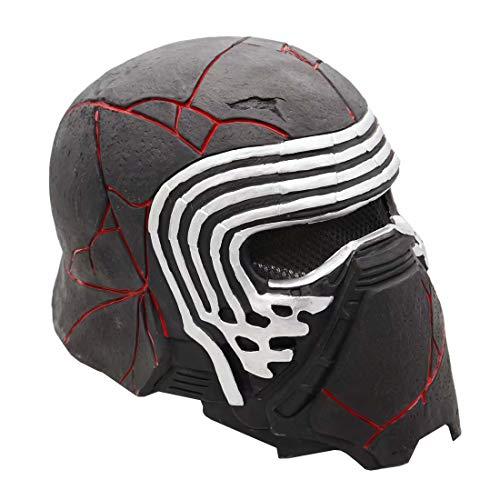 Kylo Ren Máscara de casco con Changer, máscara electrónica de látex completa con sonido de juguete