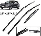 XIANGSHAN Delantera y Trasera rasquetas Set for BMW Serie 1 F21 F20 114i 116i 118i 120i 125i M135i M140i 116d 118d 125d 2011-2019 2018 2017 by