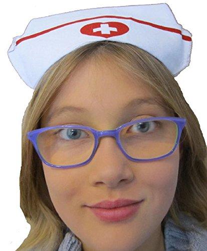 Mondial-fete - Coiffe infirmière 2/8 Ans Tissu