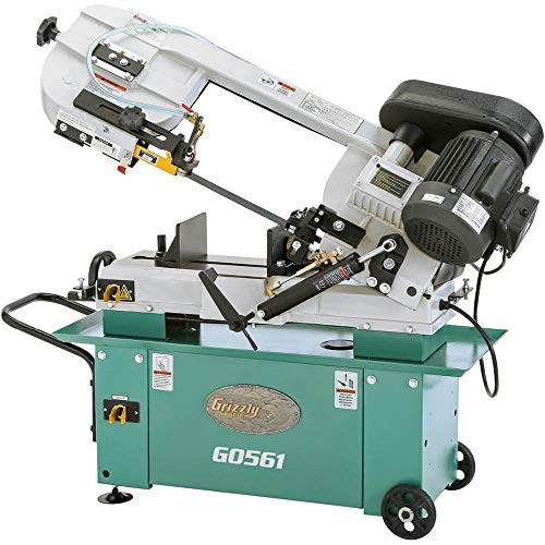 "Grizzly Industrial G0561-7"" x 12"" 1 HP Metal-Cutting Bandsaw"