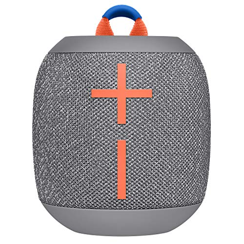 Ultimate Ears Wonderboom 2 Tragbarer Bluetooth-Lautsprecher, 360° Sound, Wasserdicht & Staubdicht, Outdoor-Modus, Verbinden Sie 2 Lautsprecher für Stereo-Sound, 13-Stunden Akkulaufzeit - grau