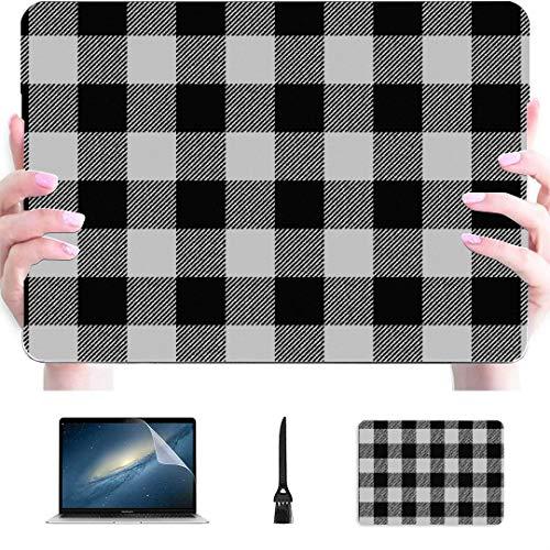 Macbook Air 13 Pulgadas sin Costuras Blanco Buffalo Plaid Carcasa rígida de plástico Compatible Mac Air 13'Pro 13' / 16'Funda Macbook Pro Cubierta Protectora para Macbook 2016-2020 Versión