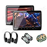 """XTRONS 10.1"""" Car Headrest DVD Player with HDMI Port, Dual TFT Screen Portable"""