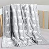 Kid Nation Baby Blanket, Cozy Throw Blankets for Newborn Infant and Toddler, Super Soft and Warm Receiving Baby Blanket for Crib Stroller, 30 x 40 in, Gray