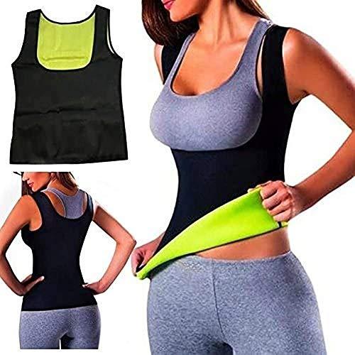 Beirich Sport-Tanktop für Damen, Sportunterbrust-Sauna-Shirt, Unterhemd, Shaping-Unterhemd, Fitness-Unterhemd, Neopren, mit Bauchweg-Effekt, Schwarz, Größe S