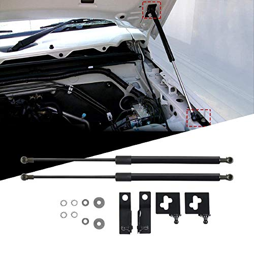 LFOTPP Motorhauben Gasfeder für Jimny, Schwarze Gasdruckfeder Motorhaube, 2 Stück