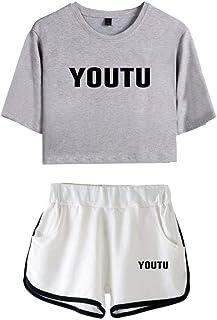 5892b143bd6db CTOOO T-Shirts Shorts Shawn Mendes Vêtements Commémoratifs Femme Ado Casual  Ete XS-XXL
