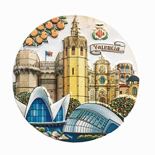 Imán de nevera Valencia España recuerdo turístico regalo decoración hogar cocina etiqueta magnética etiqueta magnética de la colección de imanes de nevera