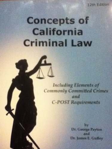 Concepts of California Criminal Law