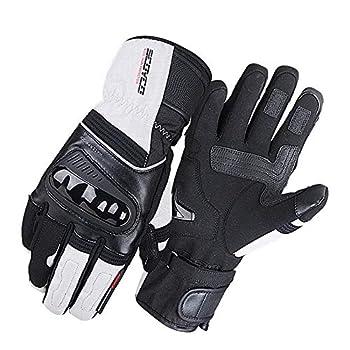 SCOYCO Motorcycle Gloves Men 100% Waterproof Windproof Winter Moto Gloves Touch Screen Gant Moto Guantes Motorbike Riding Gloves  Light gray L