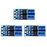 UMLIFE 3PCS Dual High-Power MOS Transistor Driving Module 0-20KHz PWM DC 5V-36V 400W Adjustment Electronic Switch Control Board Lamp Brightness Control 15A(Max 30A) Motor Speed Controller