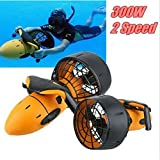 HR Sea Scooter Unterwasserscooter 300 Watt w/Dual Speed Propeller Seeroller Tauchscooter in der Wasser,Schnorchelausrüstung geeignet für Schwärme
