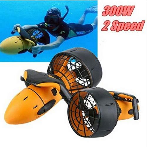 XD7 Scooters eléctricos subacuáticos, hélice de Doble Velocidad Scooter de mar eléctrico de 300 W para Deportes acuáticos Snorkel Swim / 6 km/h Amarillo + Negro