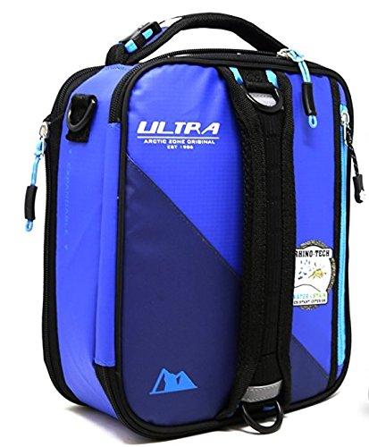 Ultra Arctic zone Fashionable isolato pranzo estensibile, contenitore per il pranzo con Plus due pastiglie di ghiaccio e forcella in acciaio INOX Blue/Light Blue