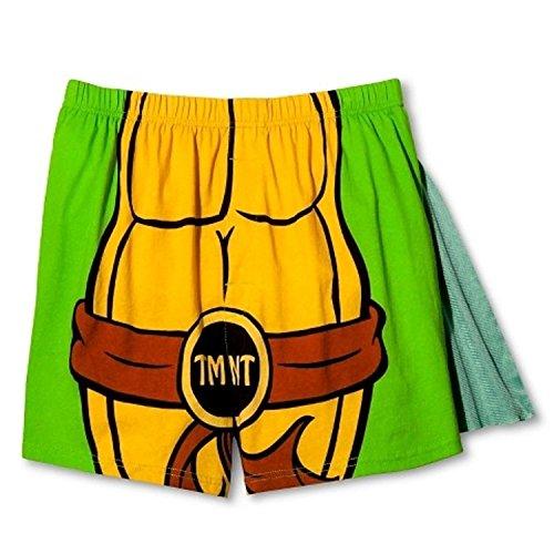 Nickelodeon Men's Teenage Mutant Ninja Turtles Caped Boxers (Small)
