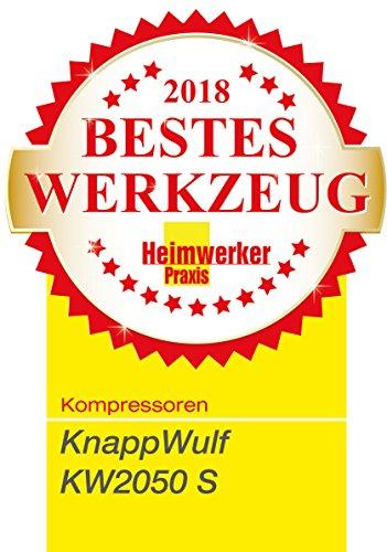 """KnappWulf Kompressor""""mucksmäuschenstill"""" Modell KW2050 8bar Druckluftkompressor 69dB - 7"""