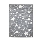 MyShop24h - Alfombra infantil, diseño de estrellas y cielo estrellado, colores...