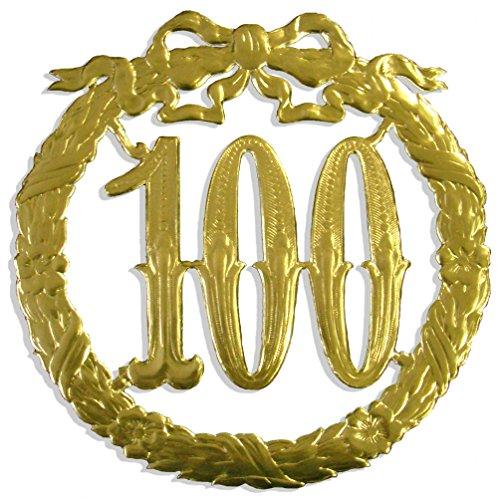 Walter Kunze Jubiläumszahl 100, Ø 24 cm, Gold, Jubiläumskranz