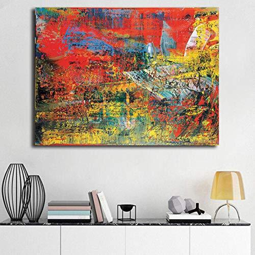WJY Gerhard Richter Raku Keramik Zusammenfassung Leinwanddrucke Bild Modulare Gemälde für Wohnzimmer Poster an der Wand Home Decor 40x50cm Kein Rahmen