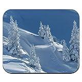 雪に覆われた山の斜面 - スノーボードスキーマウスパッドマウスパッド