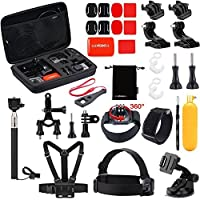 Luxebell Outdoor Sports Accessories Kit for Gopro Hero 5 Session Hero 4/3+/3+2 Sjcam Sj4000 Sj5000 Sj6000 DBPOWER 12MP/EX5000 14MP (30-in-1) [並行輸入品]