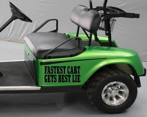Golf CART Sticker Decal Fastest CART GETS Best Lie Tee Driver Funny Golfball Fun 2