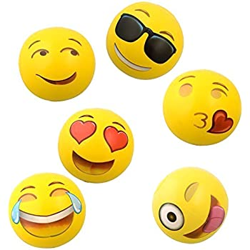 12 Set of 12 12 Toy Goodkids Pool Party Favor and Beach Toys Emoji Universe Inflatable Beach Ball Indoor /& Outdoor Competitive Sports and Fun