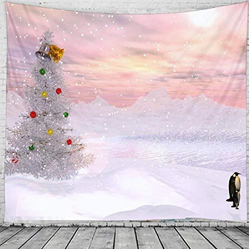 Tapiz de Navidad Colgante de pared Árbol de Navidad Decoración para el hogar Regalo de Navidad Tapices impresos 150x100cm