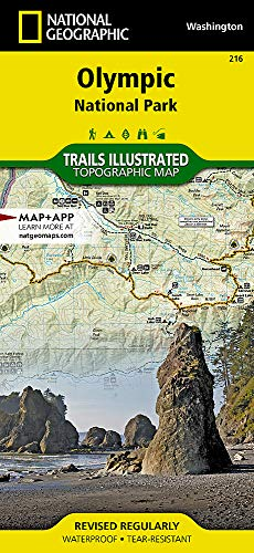 Olympic National Park (National Geographic Trails Illustrated Map, 216)