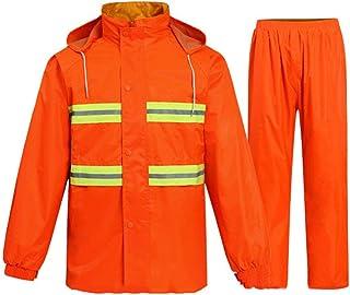BGROESTWB Snow Rainwear Reflective Waterproof Raincoat Suit Raincoat Fluorescent Raincoat Rain Pants Suitable for Riding O...