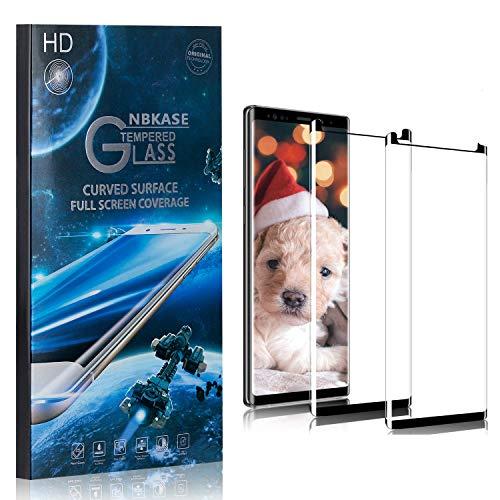 NBKASE Verre Trempé pour Galaxy Note 9, Transparent Verre Trempé Protecteur D'écran pour Samsung Galaxy Note 9, Film Protection en Dureté 9H, Anti-Rayures, 2 Pièces
