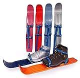 Skis pour enfants pour l'entraînement et les habiletés - utilisés par la Fédération USA de ski nordique et de saut - pour tout type de chaussures / bottes - pour enfants et adolescents à partir de 3 ans (Pink Rose)
