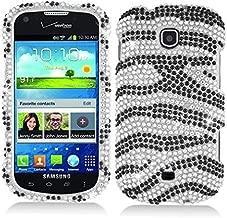 Luckiefind Case Compatible with Samsung Galaxy Stellar i200 / Samsung Galaxy Legend, Rhinestone Design Case Cover (Rhinestone Zebra)