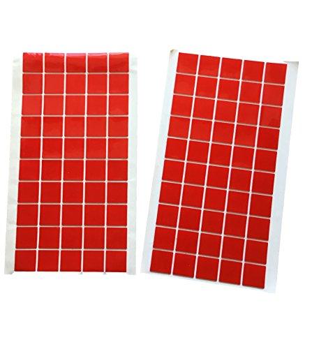 Stickypads van 20 x 20 mm, dubbelzijdig plakband, vlakken, acryl, 1 mm dik, extra sterke hechting, dubbelzijdig, transparant, herbruikbaar, montage werkplaats woning, 50 of 100 stuks