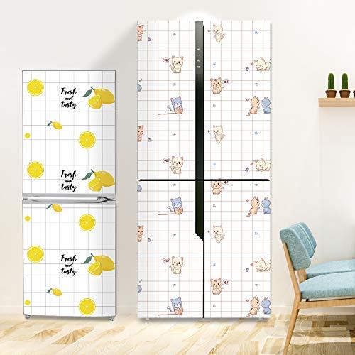 Gli adesivi per frigorifero a doppia porta sono completamente applicati Adesivi decorativi con pellicola ricondizionata per frigorifero Carta da parati autoadesiva impermeabile e resistente all olio