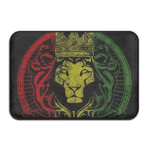 KCOUU afrikanischen Flagge Rasta Löwe Rastafari Jamaika Reggae Badteppich–Memory Foam Dusche Spa Teppich Badezimmer Küche Boden Teppich Home Decor mit Rutschfeste backing23.6X 39,9cm Zoll