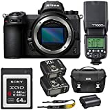 Nikon Z 7 Mirrorless Digital Camera (Body Only) + GODOX TTL Speedlite + Flash Trigger Transmitter/Receiver Combo + Nikon Camera Bag + Sony 64GB QXD Memory Card