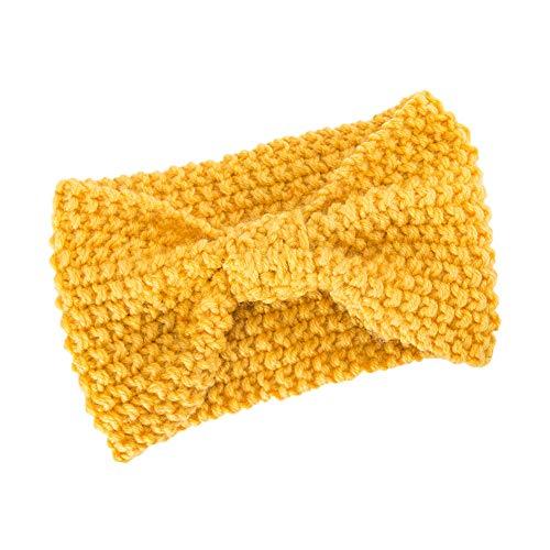 Femmes Bandeau à Tricoter Chaud Hairband Headband Bluestercool (Jaune, Taille unique)