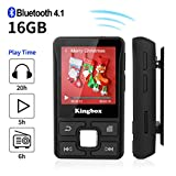 MP3 Player with Bluetooth, Kingbox 16GB Mp3 Player with Clip, Portable Mp3 Music