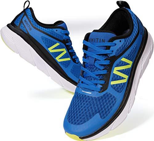WHITIN Laufschuhe Herren Sportschuhe Straßenlaufschuhe Sneaker Joggingschuhe Turnschuhe Walkingschuhe Fitness Schuhe Gym Trainers Schuhe Atmungsaktiv Dämpfung Blau 45 EU