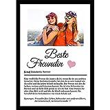 Definition Poster Wunschbild/Name | Beste Freundin Geschenk