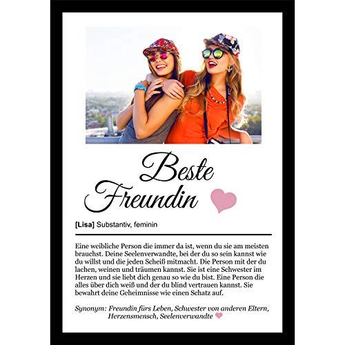 Definition Poster Wunschbild/Name | Beste Freundin Geschenk | Wandbilder Wohnzimmer | Geburtstag | Wanddeko Deko Dekortion | Liebe Herz Geschenk | Liebe Herz | Geschenk für die Liebsten