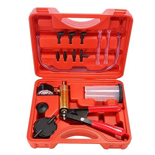 Rivadal Handvakuumpumpen Testkit, Handmessgerät und Bremsentlüftungskit Pumpentest Tuner Tool für Kfz Adapter und Koffer