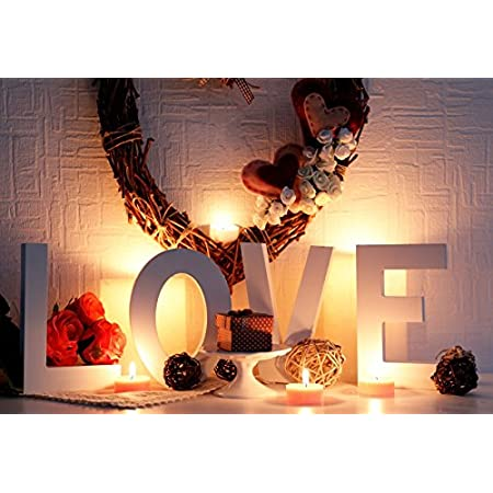 Vinyl 10x7ft Romantic Valentines Day Photography Background Cute Toy Rabbit White Candles Photo Frames Cup Flowers Hearts Decoration White Wooden Wall Backdrops Child Adult Girl Shoot