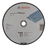 Bosch-Disco da taglio A centro piatto standard for metallo A 30 S BF 22,23 mm, 3 mm, Grigi...