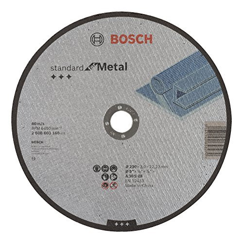 Bosch Trennscheibe, flach, Standard, für Metall A 30 S BF, 22,23 mm, 3,0 mm, grau, 2608603168