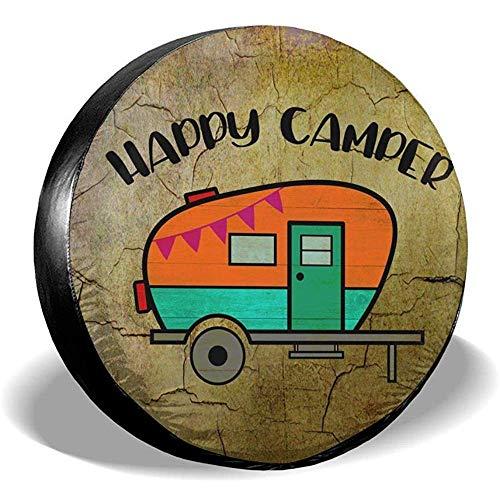 XZfly reserveafdekking Happy cam-per camping universele reservebandenafdekking voor je-ep trailer RV SUV truck 'voor diameter