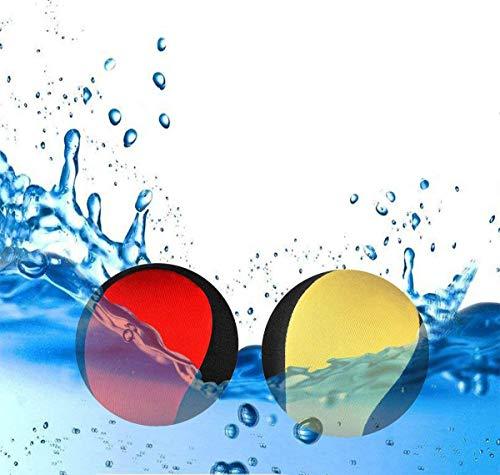 JYOHEY 2 Stück Wasserball Wasser Flummi Springender Ball auf Wasser Für Jugendliche und Erwachsene Schnelltrocknender Lycra-Bezug Ball