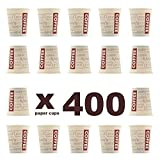 400 unidades. Coffee to go - Vasos de café reciclables 180 ml, resistentes al calor. 400...